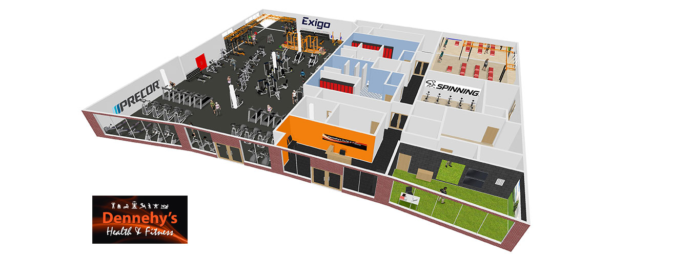 3d designs for commercial gyms
